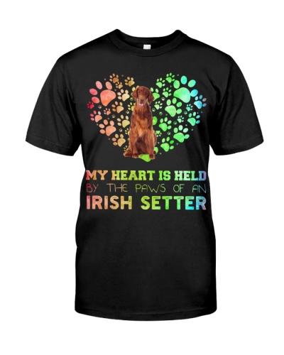 Irish Setter Heart Paw