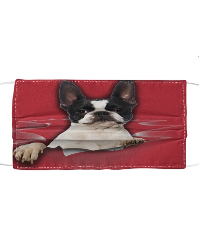 Boston Terrier Torn Paper FM