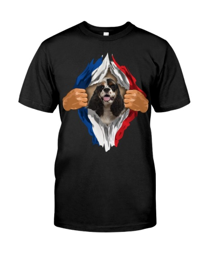 American Cocker Spaniel-Flag of France