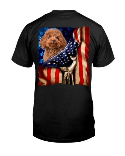 Poodle American Flag