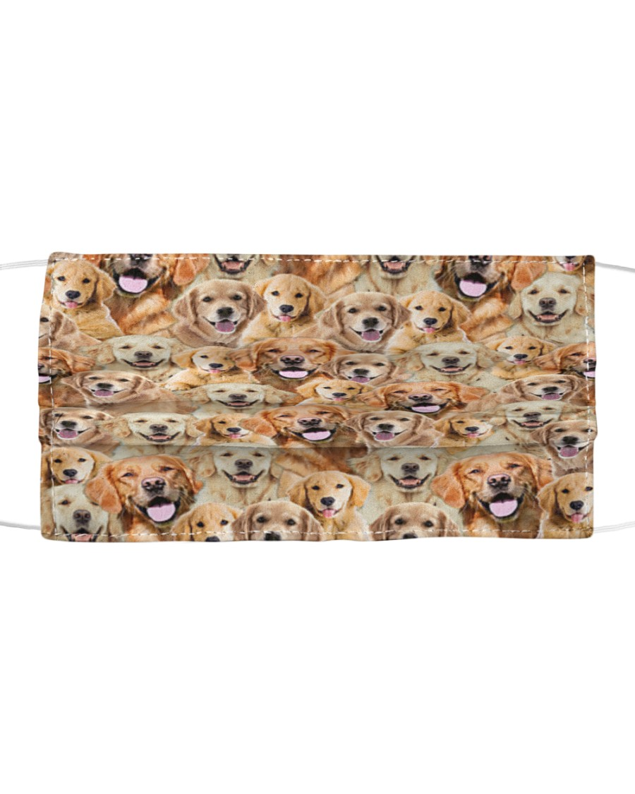 Golden Retriever FM Face Cloth face mask