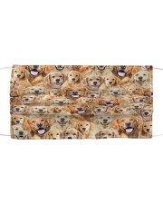 Golden Retriever FM Face Cloth face mask front