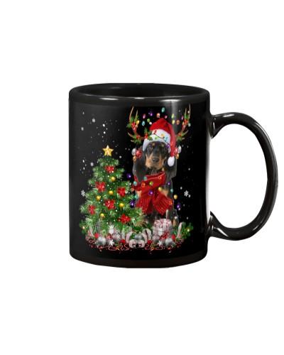 Black and Tan Coonhound-Reindeer-Christmas