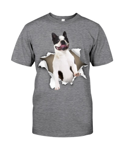 Boston Terrier - Torn Paper