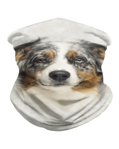 Australian Shepherd Face 3D BDN