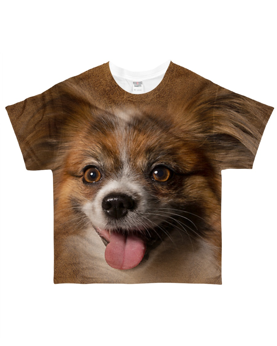 Papillon-Face and Hair All-over T-Shirt