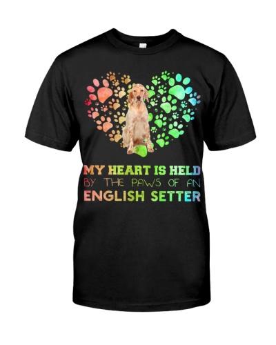 English Setter Heart Paw