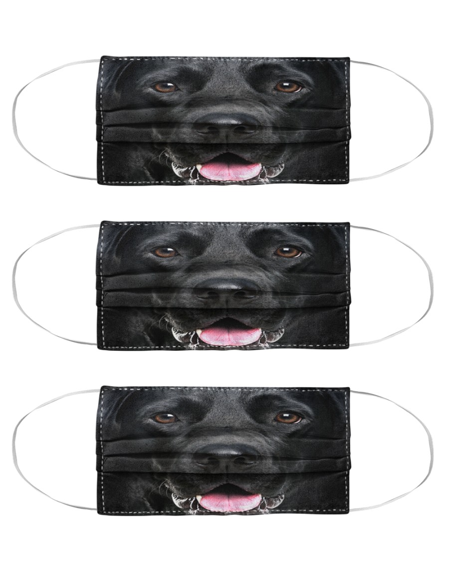 Labrador Retriever Face Cloth Face Mask - 3 Pack