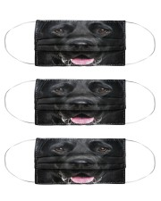 Labrador Retriever Face Cloth Face Mask - 3 Pack front