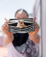 Norfolk Terrier Stripes FM Cloth face mask aos-face-mask-lifestyle-07