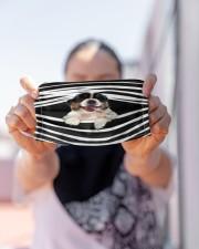 Australian Shepherd Stripes FM Cloth face mask aos-face-mask-lifestyle-07