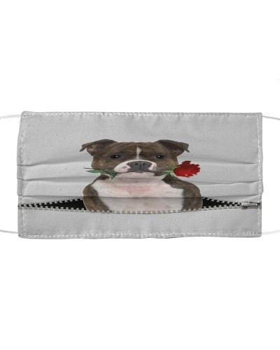 Staffordshire Bull Terrier Rose Face