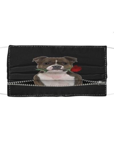 Staffordshire Bull Terrier Rose Face