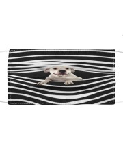 Dogo Argentino Stripes FM Cloth face mask front