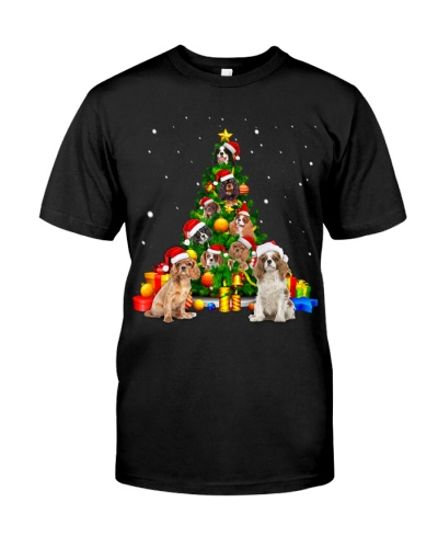 Cavalier King Charles Spaniel-Christmas Tree-1