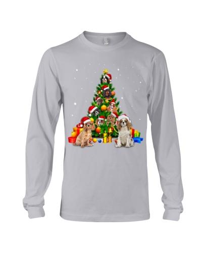 Cavalier King Charles Spaniel-Christmas Tree-1