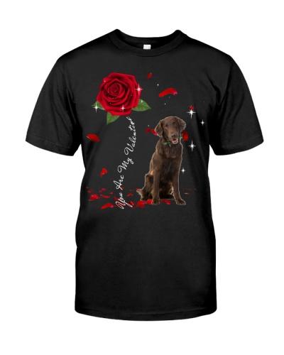 Flat Coated Retriever is My Valentine-Rose