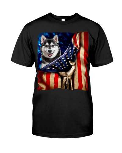 Husky American Flag-Front