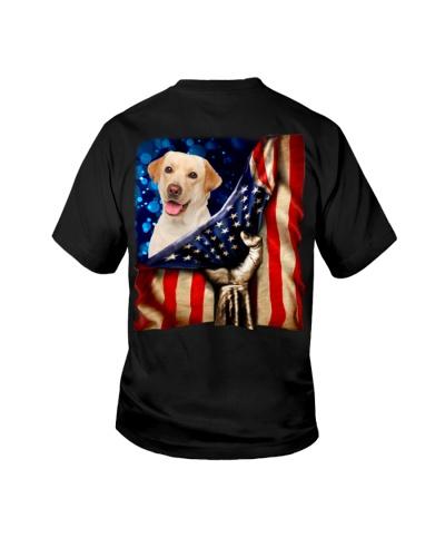 Labrador American Flag