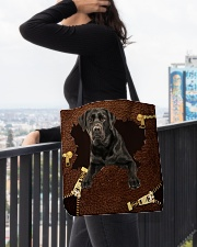 Labrador-Black-NT056-Handbag All-over Tote aos-all-over-tote-lifestyle-front-05