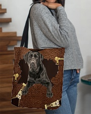 Labrador-Black-NT056-Handbag All-over Tote aos-all-over-tote-lifestyle-front-09