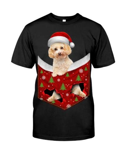Poodle Crossbreed-Christmas Pocket