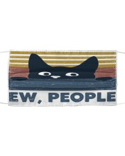 Black Cat Ew People FM Cloth face mask front