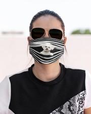 Bichon Frise Stripes FM Cloth face mask aos-face-mask-lifestyle-02