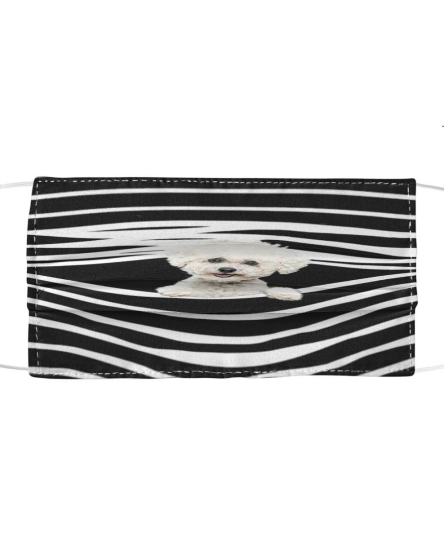 Bichon Frise Stripes FM Cloth face mask