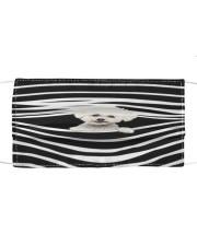 Bichon Frise Stripes FM Cloth face mask front