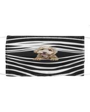 Labradoodle Stripes FM Cloth face mask front
