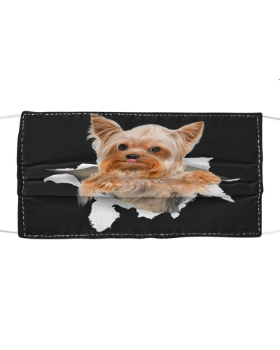 Yorkshire Terrier Torn Paper Face