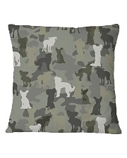 Chinese Crested Hairless-camouflage Square Pillowcase thumbnail