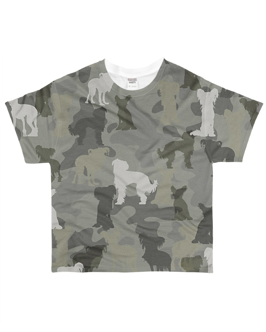 Chinese Crested Hairless-camouflage All-over T-Shirt