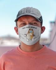 Shetland Sheepdog Six Feet People FM Cloth face mask aos-face-mask-lifestyle-06