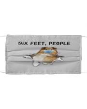 Shetland Sheepdog Six Feet People FM Cloth face mask front