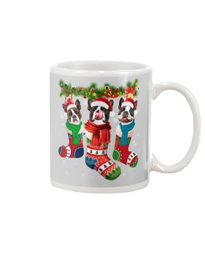 Boston Terrier-Christmas Sock