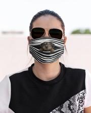 Yorkiepoo Stripes FM Cloth face mask aos-face-mask-lifestyle-02