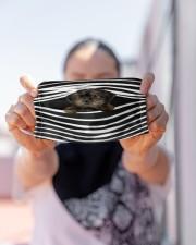 Yorkiepoo Stripes FM Cloth face mask aos-face-mask-lifestyle-07