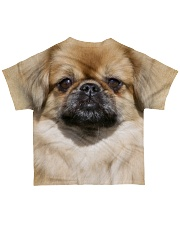 Tibetan Spaniel-Face and Hair All-over T-Shirt back