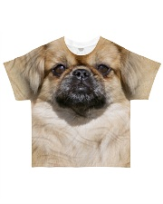 Tibetan Spaniel-Face and Hair All-over T-Shirt front