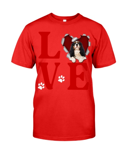 Cavalier King Charles Spaniel -Love Torn Heart