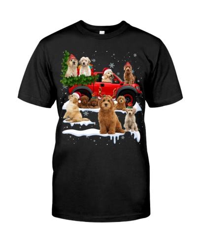 Goldendoodle-Christmas Car