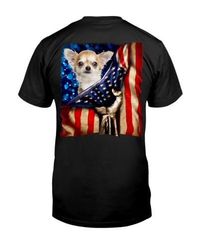 Chihuahua American Flag