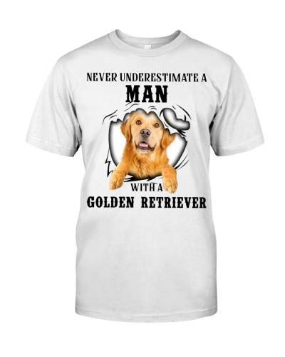 Man With A Golden Retriever