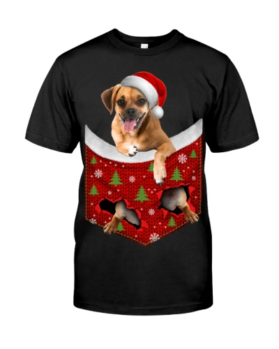 Puggle-Christmas Pocket