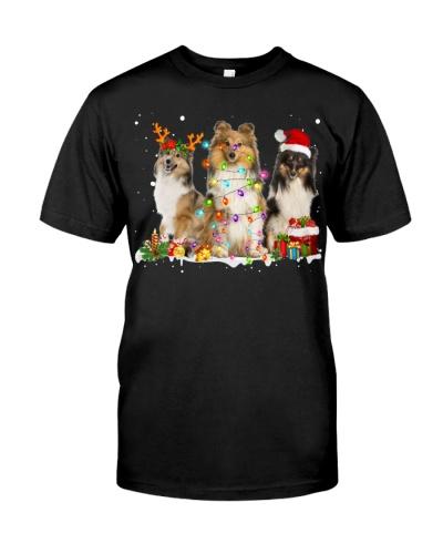 Shetland Sheepdog-Snow-Christmas