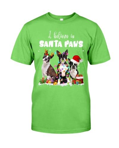Boston Terrier-Santa Paws