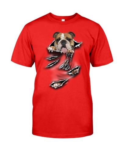 English Bulldog-Scratch