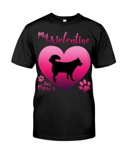 Siberian Husky-My Valentine Has Paws